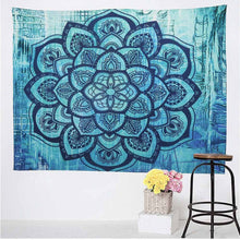 The Abstract Blue Floral Tapestry
