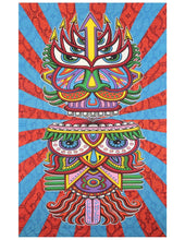 Abstract Colourful Tribal Art Tapestry