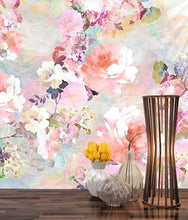 Abstract Flowers Décor Tapestry