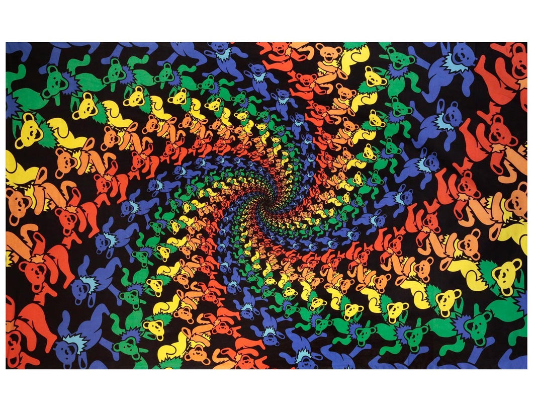 Psychedelic Colours Dancing Bears Décor Tapestry