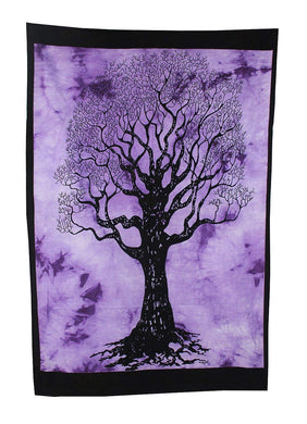 Purple Tree Of Life Tapestry