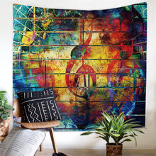Abstract Art Musical Note Tapestry