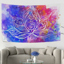 Geometric Lotus Colourful Tapestry