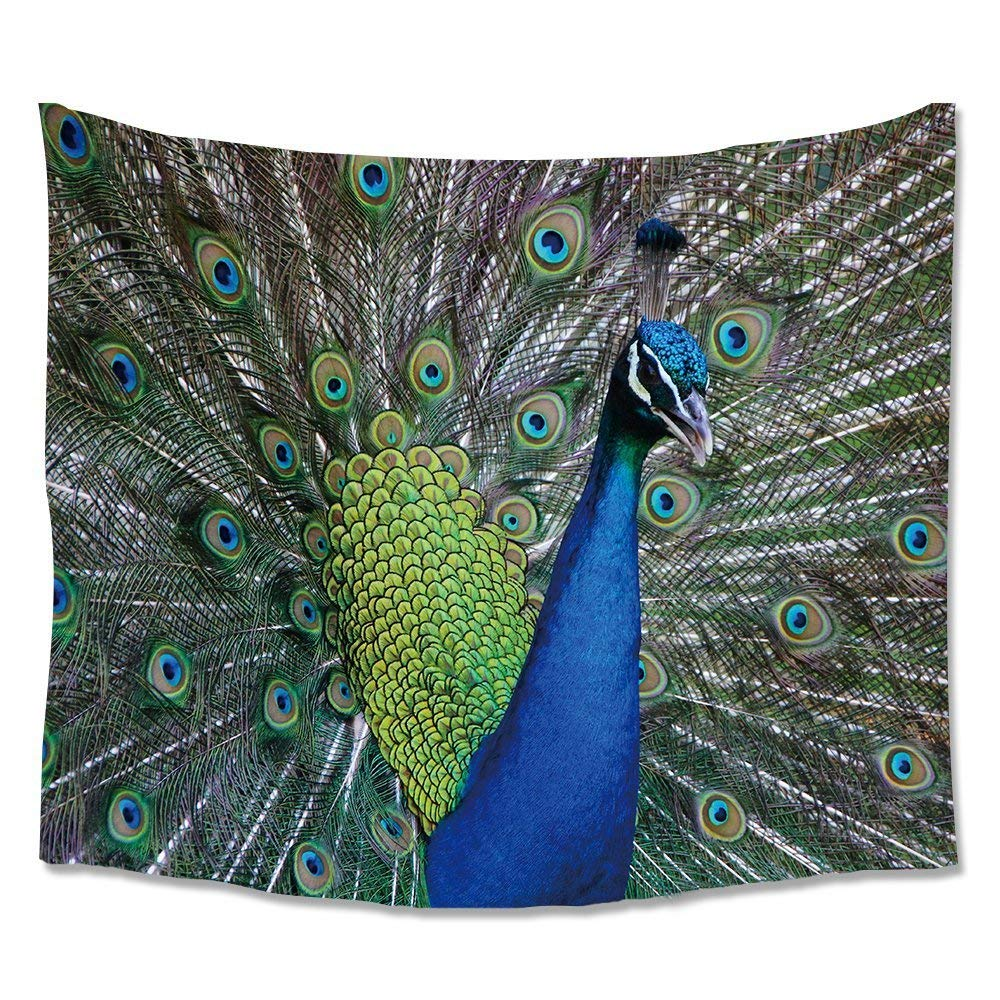 Cloud Dream Animal Home Decor 3D peacock Tapestry Wall Art Hanging for Bedroom Living Room Dorm Wall Blankets