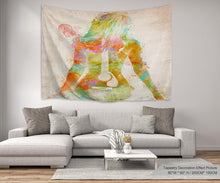 Woman Guitar Décor Tapestry
