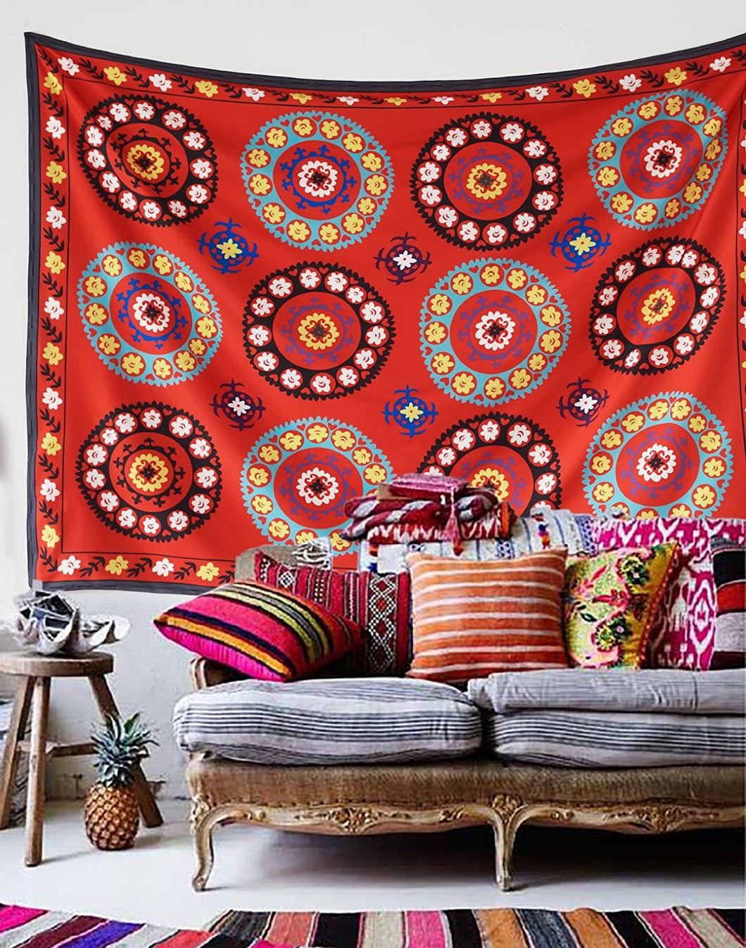 Moroccan Print Décor Tapestry
