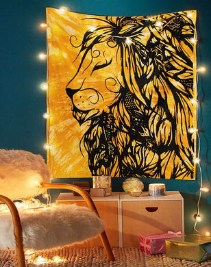 Lion Leo Star Sign Tapestry