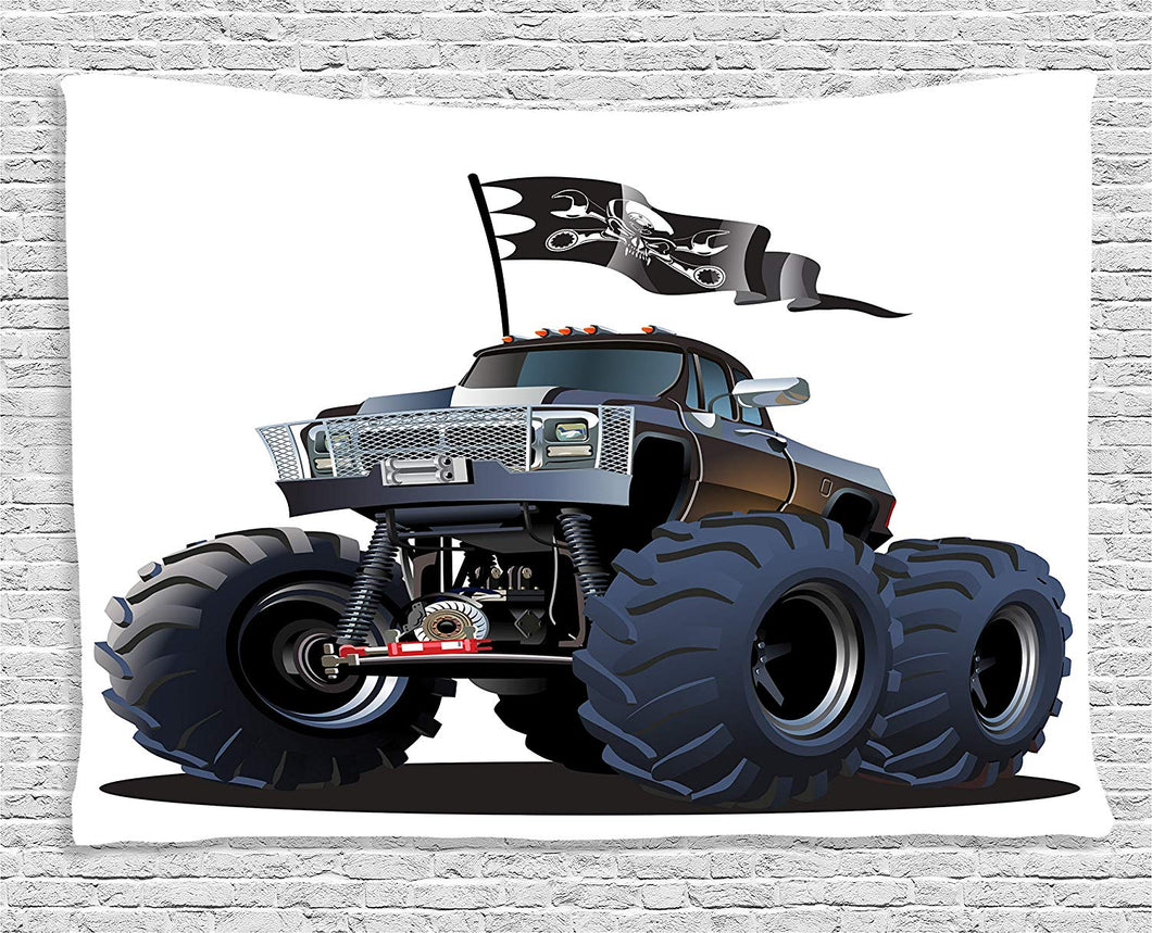 Monster Truck Décor Tapestry