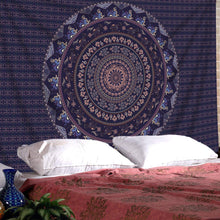 "SENGE Tapestry Mandala Tapestry Wall Hanging Mandala Tapestries Indian Bedspread Picnic Wall Art Hippie Tapestry (M51.2""X59.1"", Multicolor)"