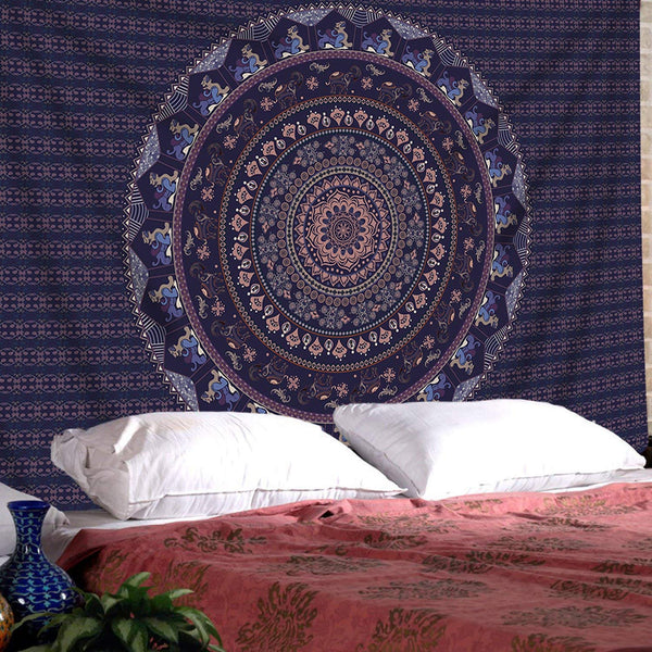 SENGE Tapestry Mandala Tapestry Wall Hanging Mandala Tapestries Indian Bedspread Picnic Wall Art Hippie Tapestry (M51.2