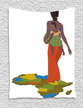 African Lady With Baby Décor Tapestry