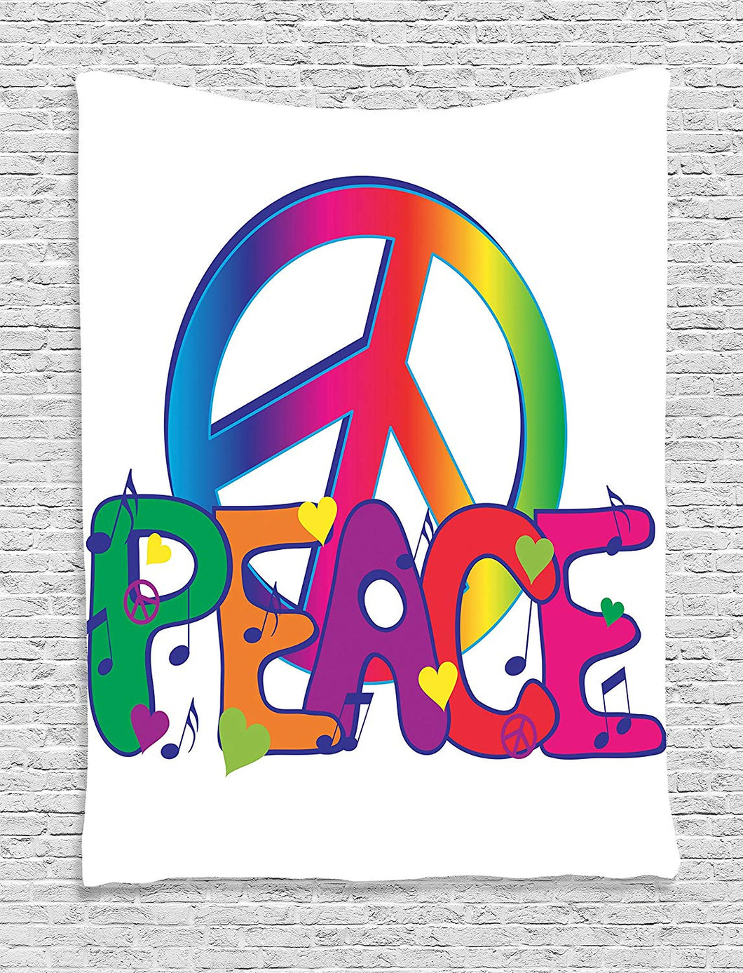 Peace Hippie Décor Tapestry