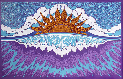 Surf, Sunshine, Beach Tapestry