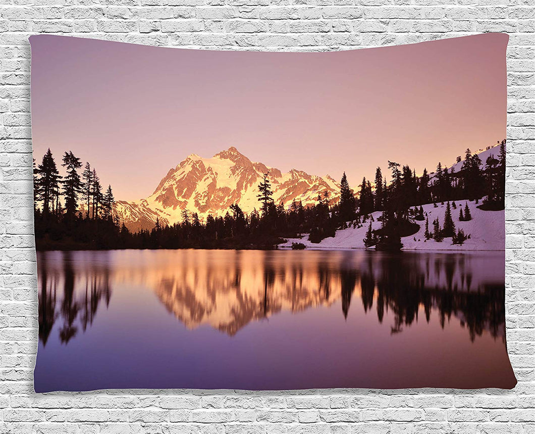 Snow Capped Mountains Décor Tapestry