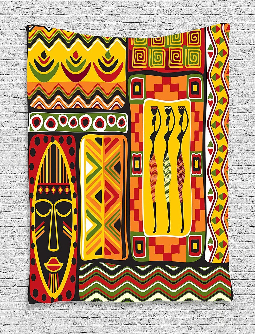 African Style Decoration And Elements Tapestry