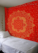 Madhu International Red Gold Ombre Tapestry, Mandala Bohemian Tapestry Throw Dorm Decor, Hippie Hippie Boho Mandala Wall Hanging