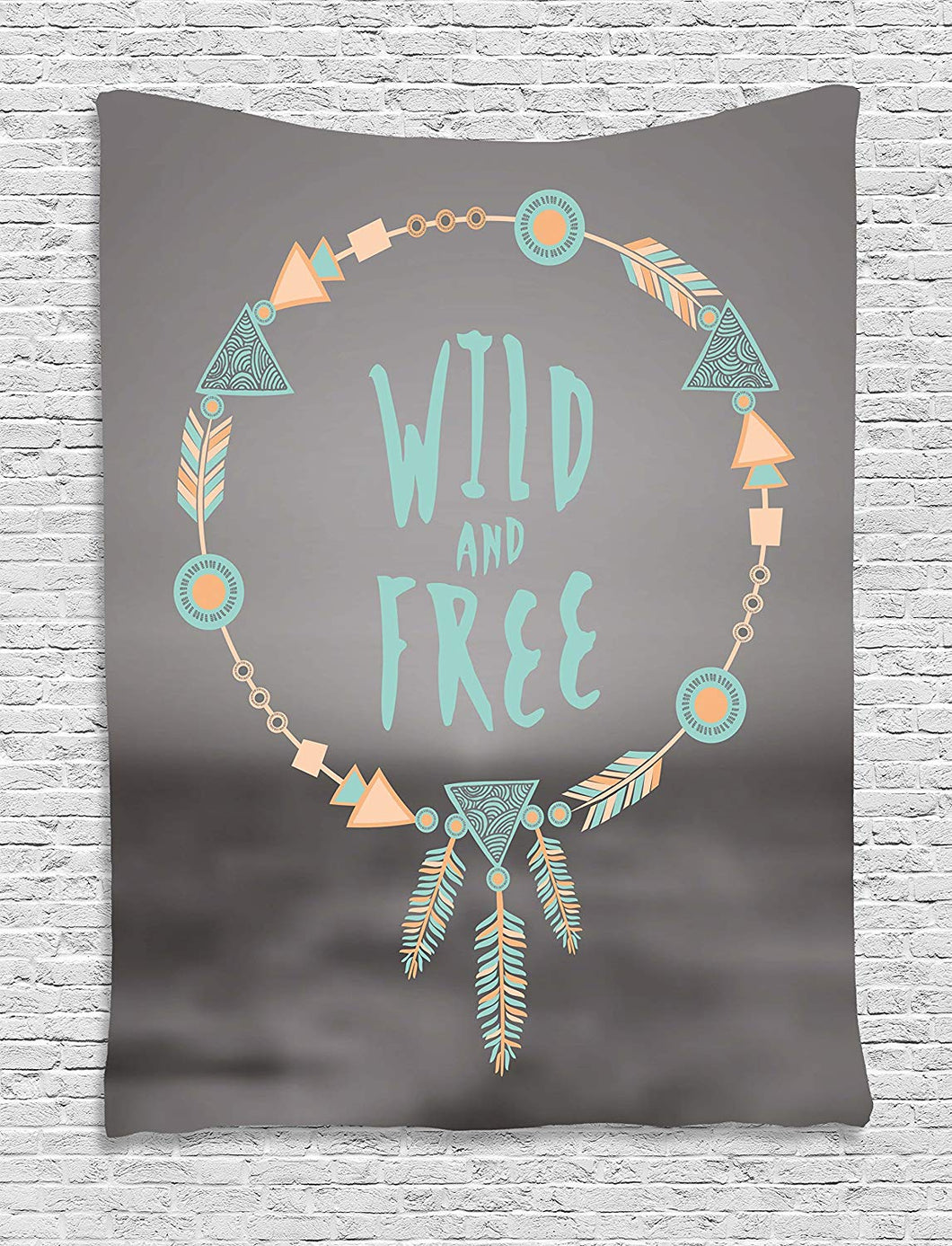 Peach Turquoise Wild And Free Dream Catcher