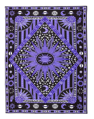 Mystical And Psychedelic Celestial Sun Tapestry