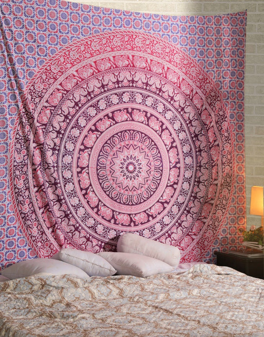 Lavender Ombre Elephant Tapestry