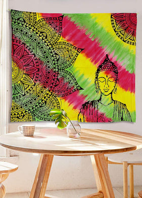 Buddha Mandala Colourful Tapestry