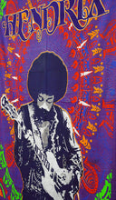 Jimi Hendrix Playing Guitar Tapestry