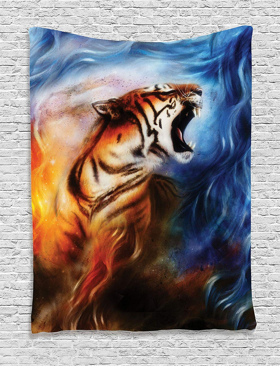 Angry Tiger Décor Tapestry