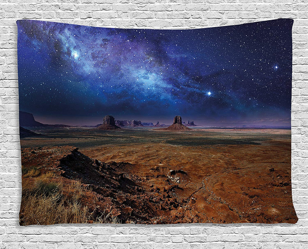 Starry Skies And Nebulas In The Desert Tapestry