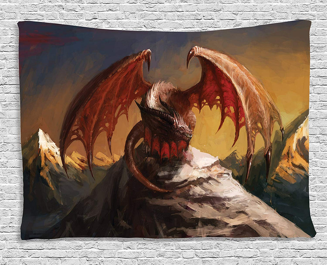 Mountain Dragon Décor Tapestry