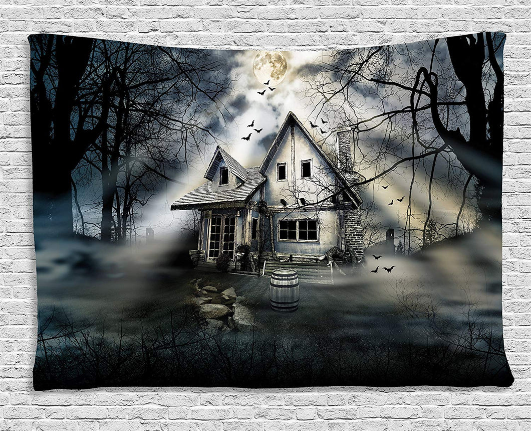 Haunted House Décor Tapestry