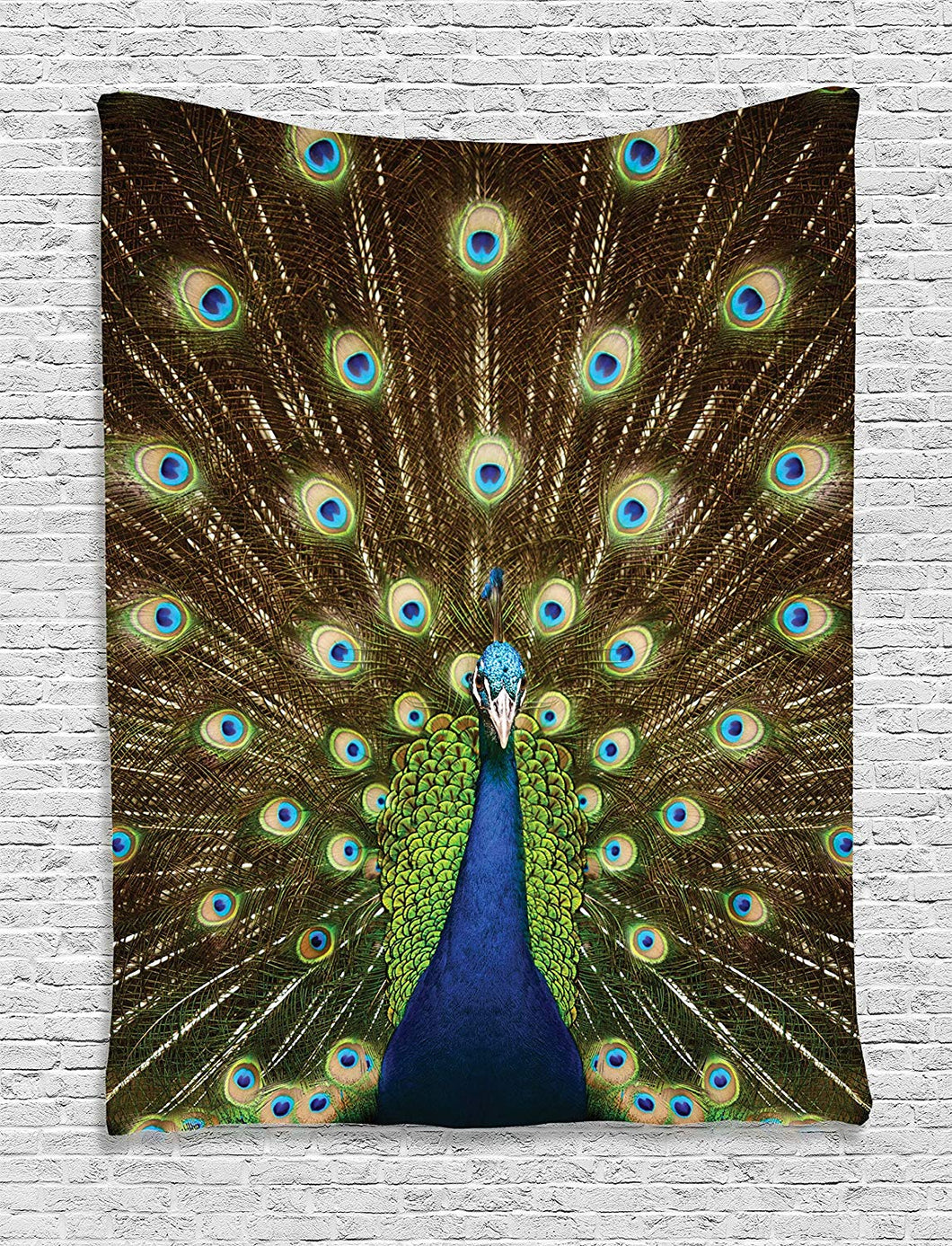 Gorgeous Peacock Bird And Feathers Tapestry