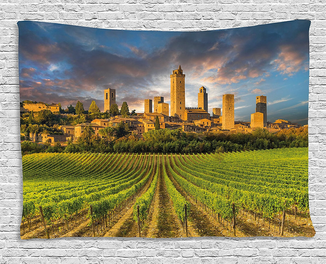 Gorgeous Italian City Landscape Tapestry