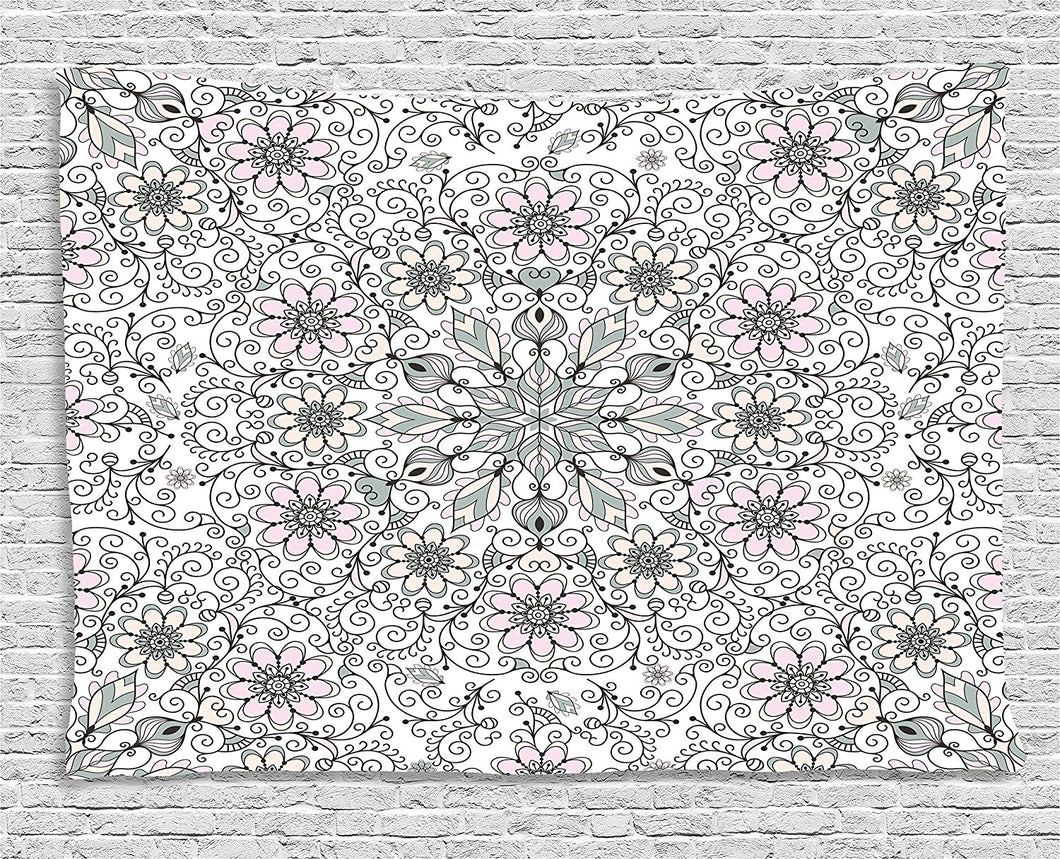 Floral Print Tapestry