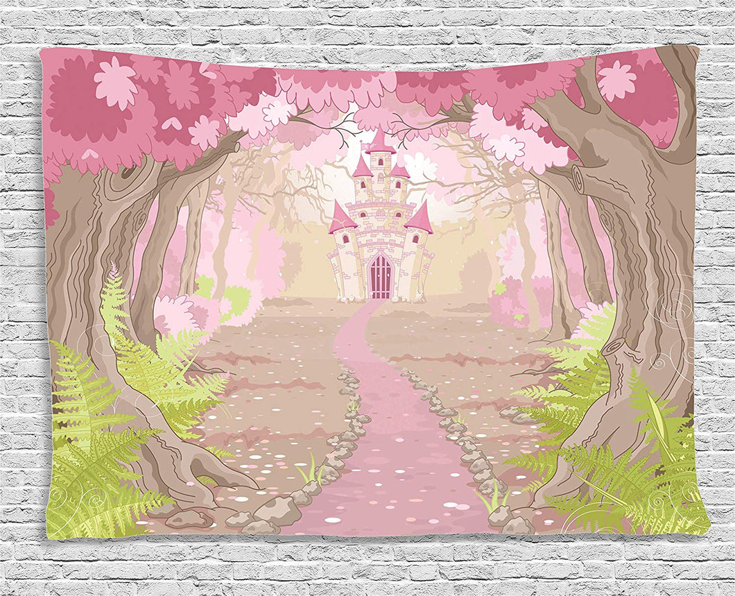 Fairy Tale Castle Décor Tapestry
