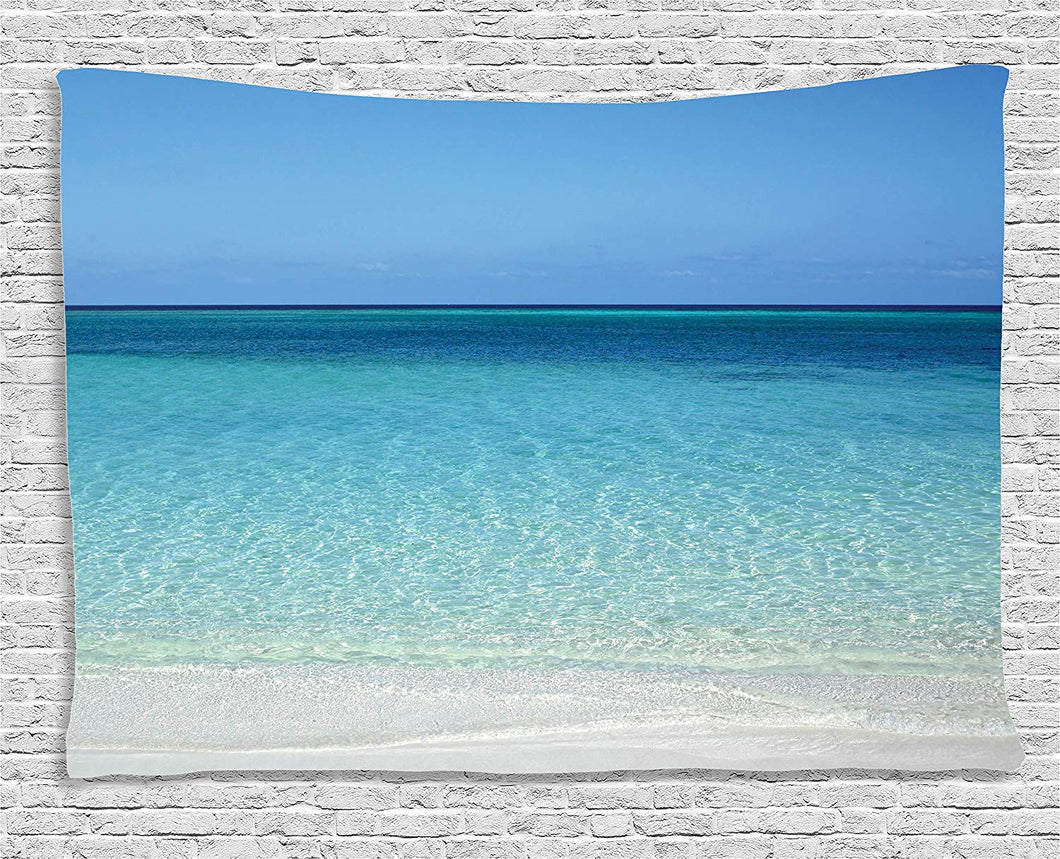 Clear Blue Ocean Tapestry