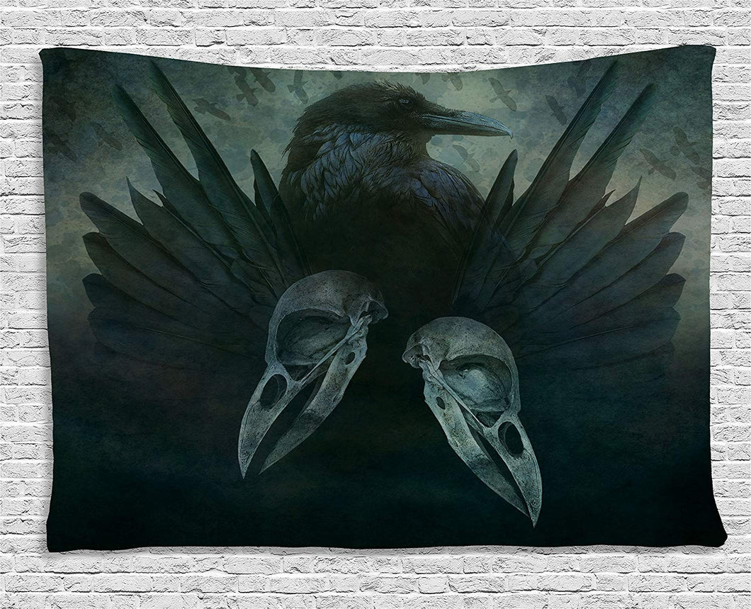 Crow And Spirit Décor Tapestry