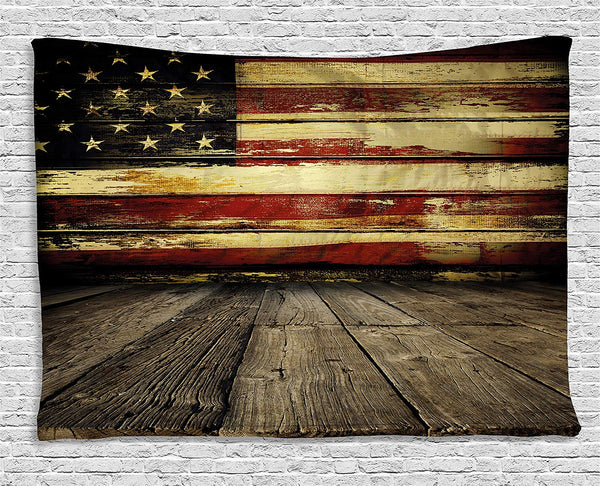 United States Flag Décor Tapestry
