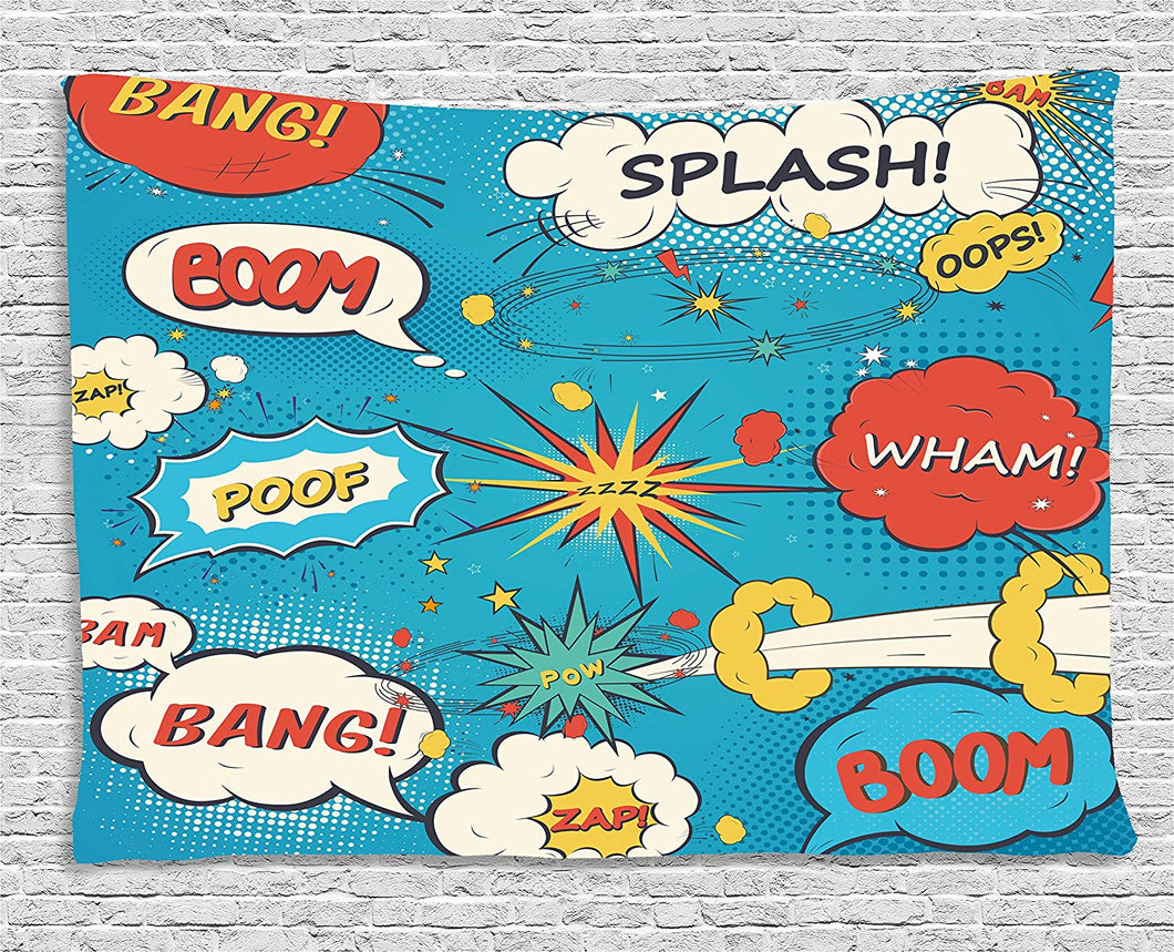 Funny Speech Bubbles Décor Tapestry