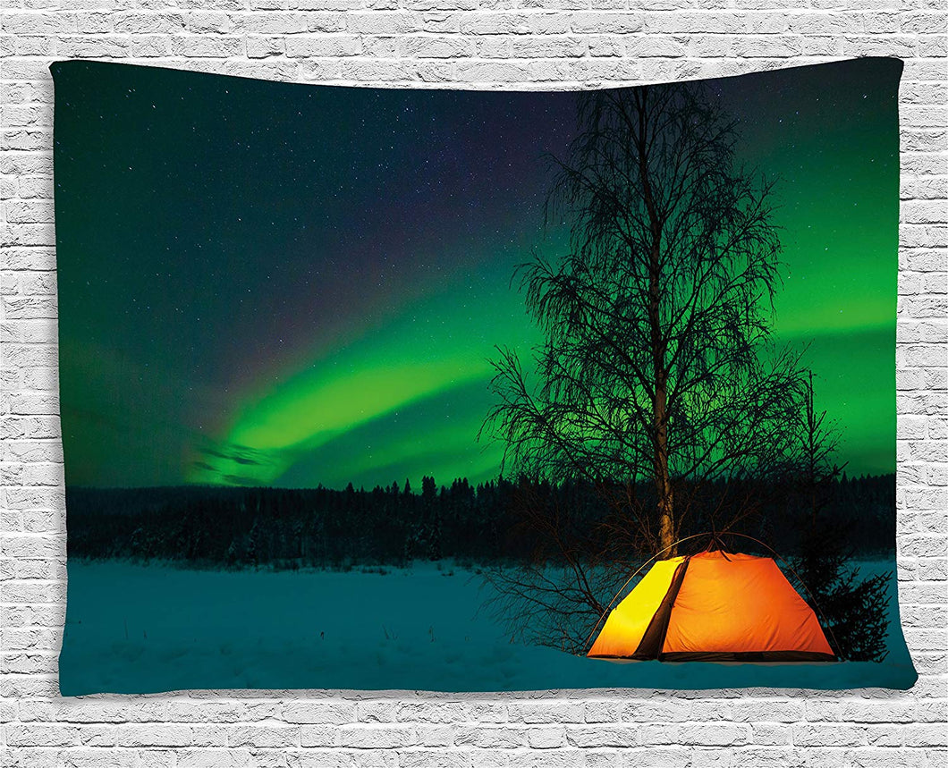 Camping Out Under The Northern Lights Skies