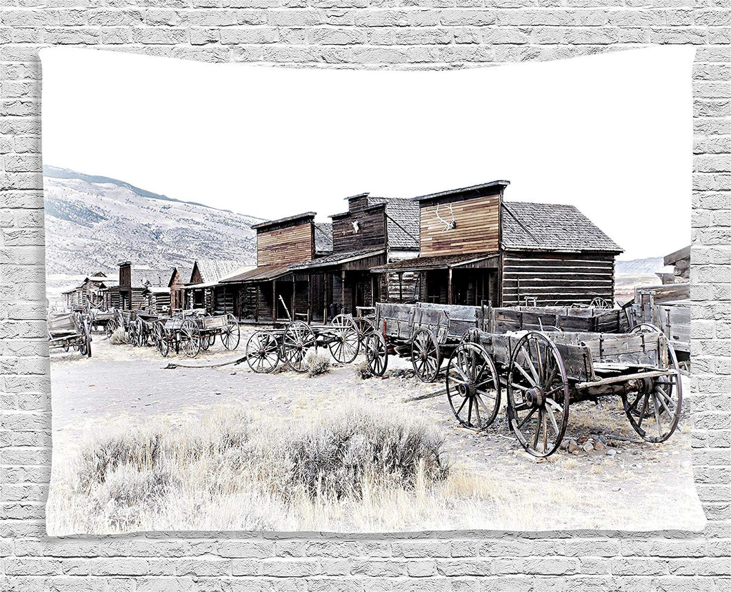 Old School Wooden Wagons Tapestry