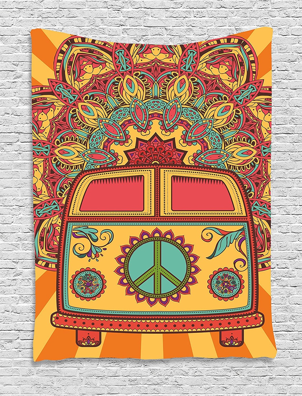 70's Travel Bus Décor Tapestry