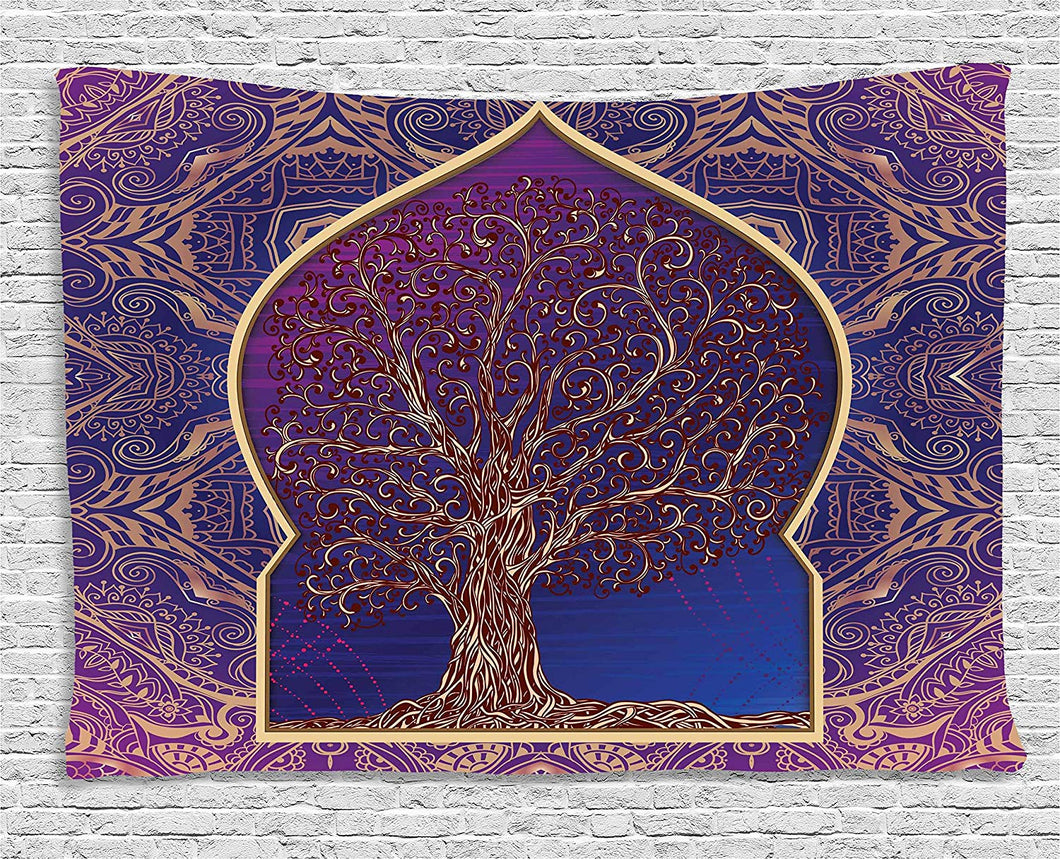 Ethnic Moroccan Tree Of Life Tapestry