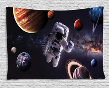 Astronaut In Outer Space Tapestry