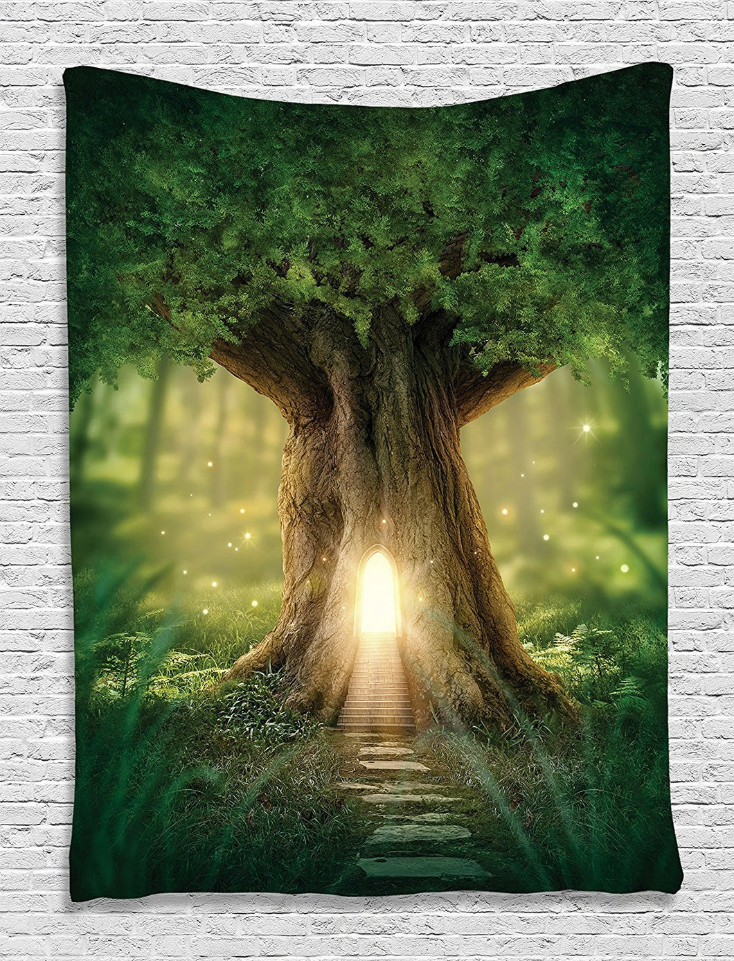 Magical Tree Fairyland Tapestry