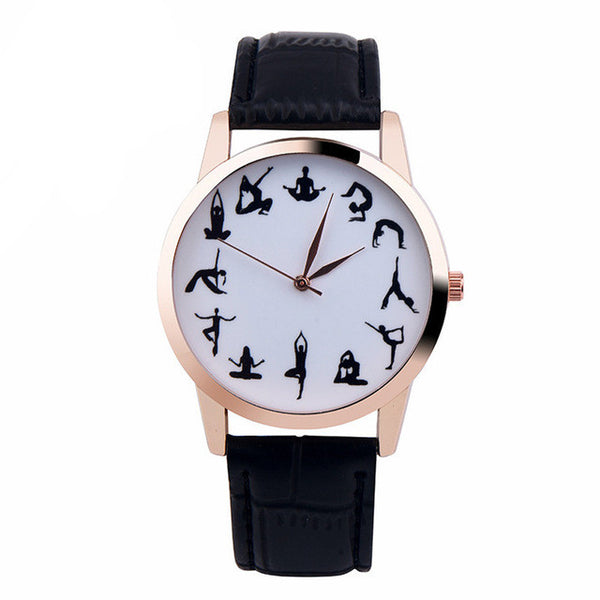 Quartz Yoga Wrist Watch