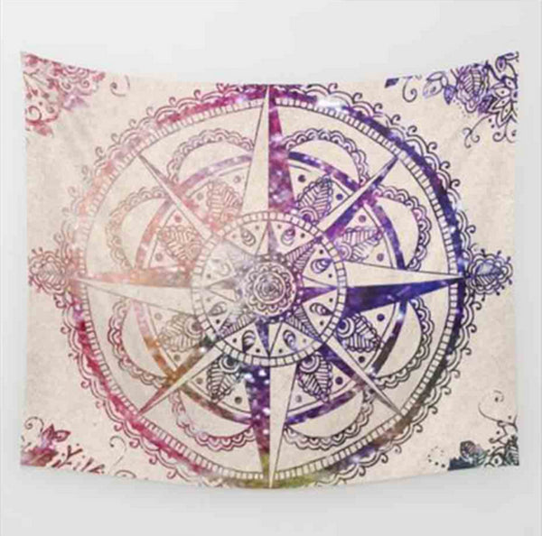Pink Indian Mandala Tapestry
