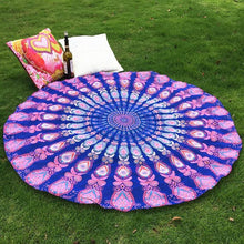 Multicolor Round Indian Mandala Tapestry