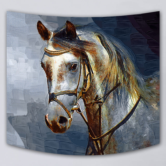 Alluring Horse Print Wall Hanging Tapestry