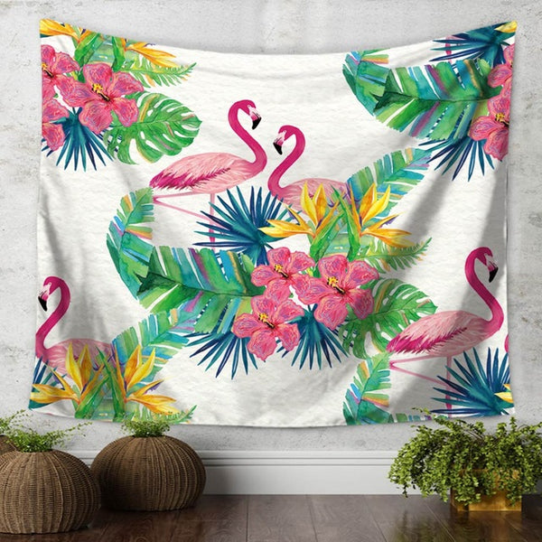 Beautiful Pink Flamingo Tapestry