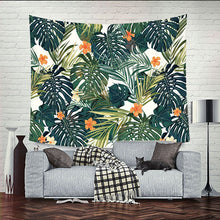 Orange Plant Artwork, Hanging Tapestry