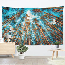 Doves To The Horizon Graphic Tapestry
